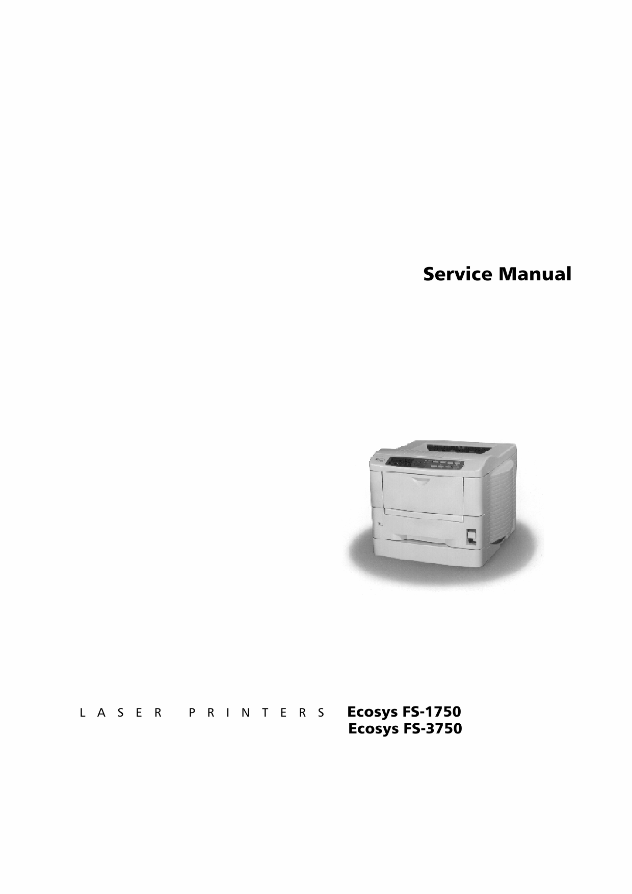 KYOCERA LaserPrinter FS-1750 3750 Parts and Service Manual-1